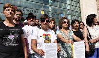 Imagen de los integrantes de Lambda en la Ciudad de la Justicia.