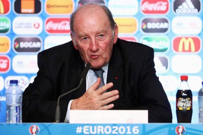 El presidente del Comité de Organización de la Eurocopa de 2016, Jacques Lambert