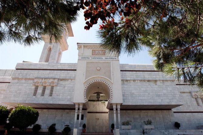 Vista exterior del Centro Cultural Islámico de Madrid, conocido como la Mezquita de la M-30.