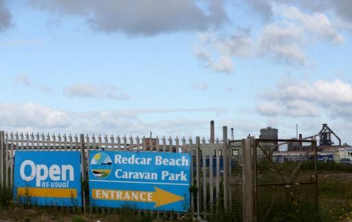 Vista general de una fábrica de acero cerrada en Redcar, en el noreste de Inglaterra