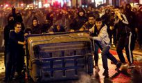 Disturbios provocados por ultraizquierdistas en Barcelona.