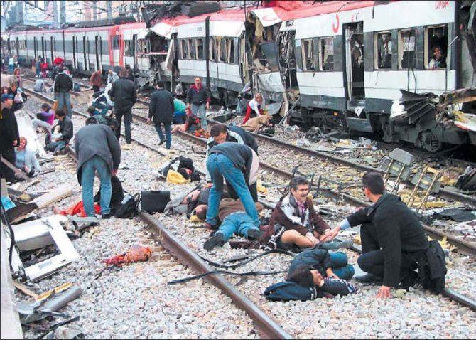 Algunas víctimas del atentado terrorista del 11-M.