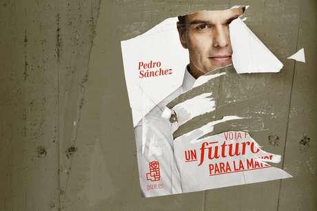 Cartel electoral de Pedro Sánchez.