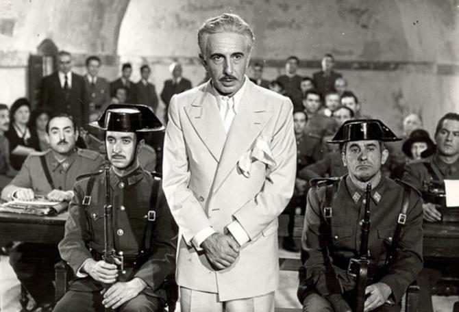Companys en el juicio de Montjuic.