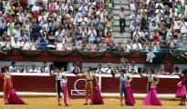 Sexta y última corrida de la feria de la Semana Grande de 2015 en Illumbe
