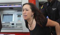 Cristina Honorato en un escrache Cristina Honorato en un escrache