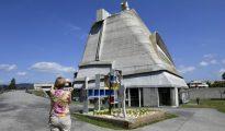 La iglesia de Saint-Pierre en Firminy, obra de Le Corbusier, fotografiada el pasado 1 de julio al este de Francia