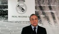 El presidente del Real Madrid, Florentino Pérez, en el Santiago Bernabéu.