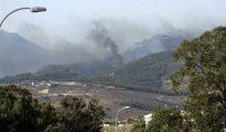 Vista del incendio registrado el viernes en el monte Gurugú, en la localidad marroquí de Nador.