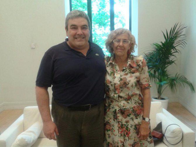 Subvencionado y subvencionadora: Esteban Ibarra y Manuela Carmena.