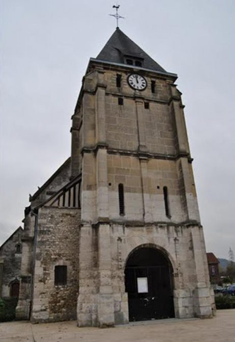 La Iglesia de Saint-Étienne-du-Rouvray atacada este martes por el Estado Islámico.