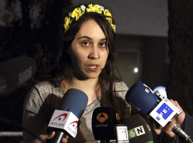 La líder en España del movimiento femenista Femen, Lara Alcázar.