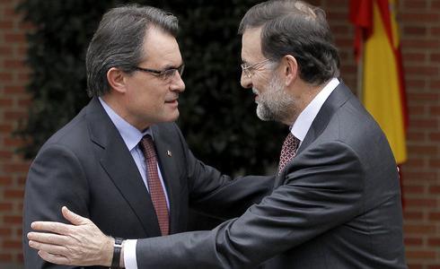 Artur Mas y Mariano Rajoy.