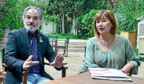 El líder de la OCB, Jaume Mateu, y la presidenta del Govern, Francina Armengol, en la campaña de las autonómicas.