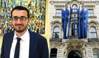 """La elección de Ibrahim Olgun (izquierda), de 28 años, como nuevo líder de la Comunidad Religiosa Islámica en Austria ha sido tachada por otros líderes musulmanes locales de """"antidemocrática"""" e """"ilegal"""". Creen que Olgun trabajará para acrecentar el influjo de Turquía sobre los musulmanes de Austria. A la derecha, el Centro Rey Abdulá ben Abdulaziz para el Diálogo Interreligioso e Intercultural de Viena, al que los críticos acusan de difundir el islam fundamentalista wahabí."""