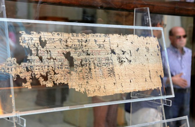 El papiro del mar Negro es hasta el momento el más antiguo hallado en Egipto.