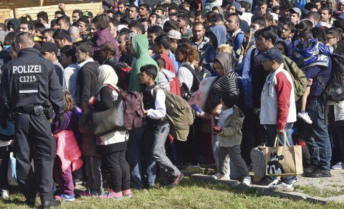 Refugiados sirios en Alemania.
