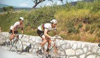 """El Tarangu"" en el Giro de Italia de 1972, vistiendo la maglia rosa."