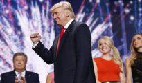 Donald Trump, tras un discurso.