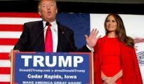 Trump y su mujer Melania, la posible próxima primera dama de EEUU.