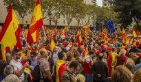 Manifestación patriota en Barcelona