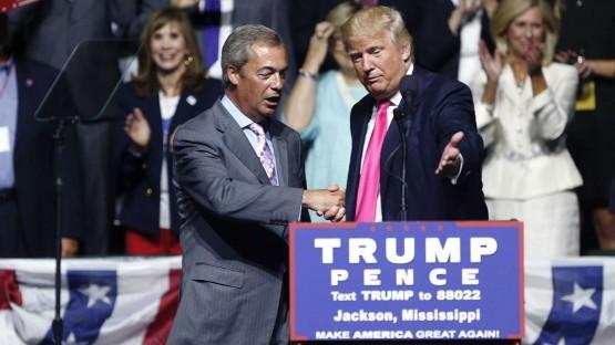 Trump y Farage.