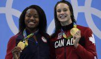 Simone Manuel compartió el primer puesto con la canadiense