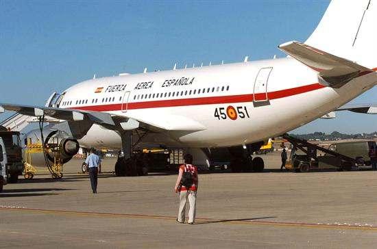 El Airbus A310 es el avión que la Casa Real usa para sus desplazamientos oficiales.