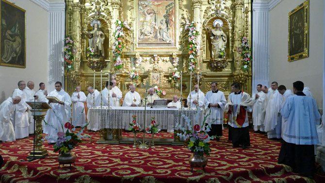 Otra imagen de la eucaristía.