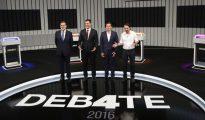 Mariano Rajoy, Pedro Sánchez, Albert Rivera y Pablo Iglesias, en el debate electoral previo al 26