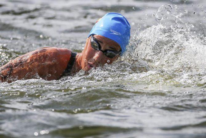 En la imagen, la nadadora española Erika Villaecija García.