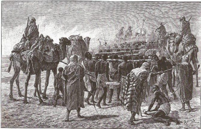 Trata de esclavos africanos practicada por los árabo-musulmanes.