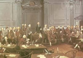 Firma de la Constitución de los Estados Unidos, en Filadelfia, óleo de Louis S. Glanzman.
