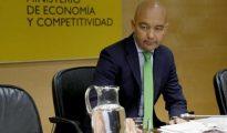 El secretario de Estado de Comercio, Jaime García-Legaz, durante la rueda de prensa que ha ofrecido hoy para analizar los datos de la balanza comercial del primer semestre.