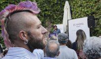 Mítin de Podemos en Cáceres. Interviene el diputado Rafa Mayorga.