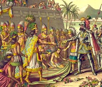 Hernán Cortés y Moctezuma.