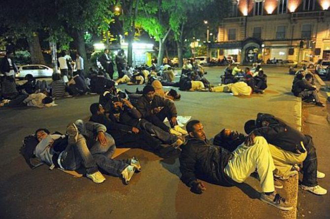 Musulmanes en Milán.