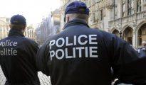 Foto de archivo de dos agentes de la policía belga en la Grand Place, en Bruselas