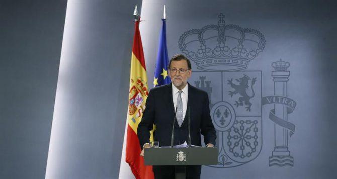 El presidente del Gobierno en funciones, Mariano Rajoy, durante la rueda de prensa ofrecida el pasado jueves tras ser recibido por Felipe VI.