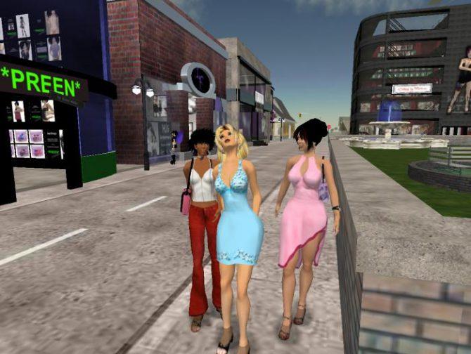 Así se ve el mundo virtual de Second Life.