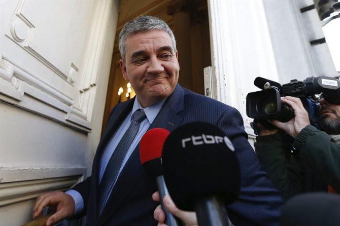 El ministro de Defensa belga, Steven Vandeput.