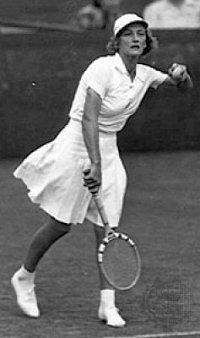 Jugadora europea de tenis a mediados del siglo pasado.