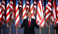 En la imagen, el candidato republicano a la presidencia, Donald Trump.