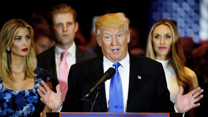 El candidato presidencial estadounidense Donald Trump.