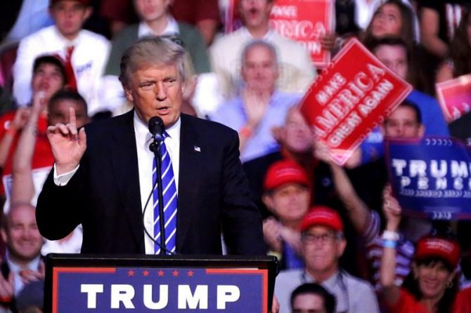 El candidato republicano a la Presidencia de EE.UU., Donald Trump.