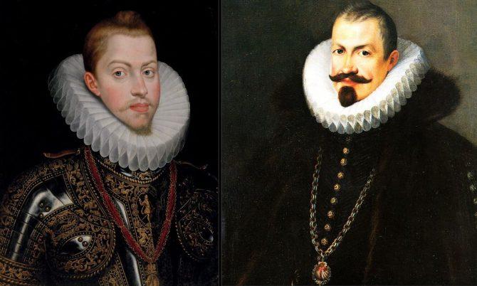 Retratos de Felipe III y el Duque de Lerma realizados en la época en la que la Corte se encontraba en Valladolid