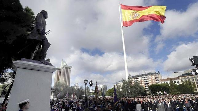Estatua a Blas de Lezo en Madrid.