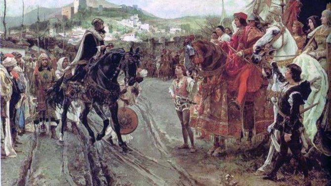 Boabdil entrega las llaves de Granada