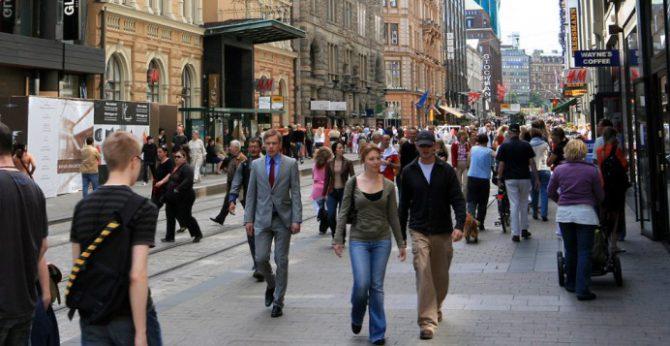 Calle de Helsinki.