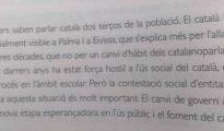 El contenido del libro de texto de la editorial Casals.